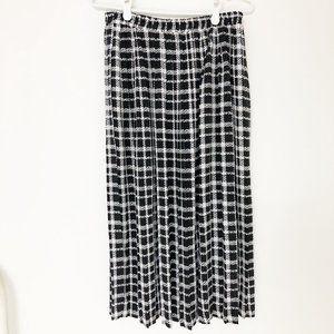 Vintage Pleated Print Midi Skirt by Joseph Ribkoff